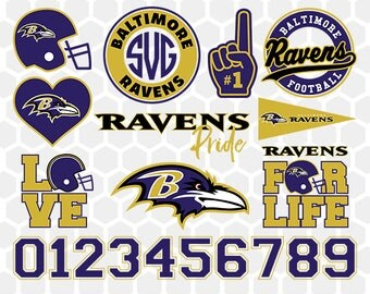 Baltimore Ravens SVG, Baltimore Ravens Files, Instant Download Football Files, Cricut, Cameo, Vinyl Machine, DXF EPS png jpg pdf - 032