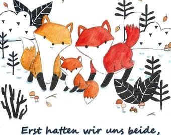 Fox Family - Print