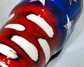 American Flag, Distressed, Stainless Steel Tumbler