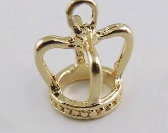 Rose Gold Crown Charm- 2 pieces  C0136