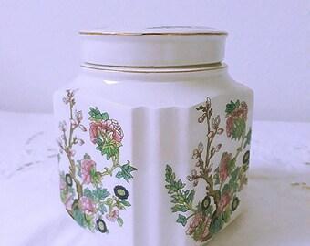 Vintage Porcelain Douwe Egberts, Sadler England tea caddy
