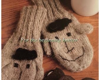 PDF Knit Lambsheep Mittens