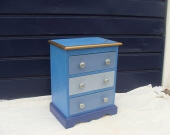 Bedside Cabinet in Beautiful Blue