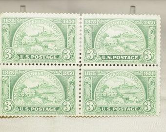 8 different sets of 4 Vintage postage stamps