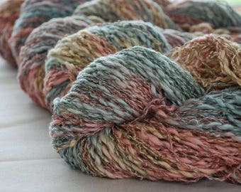 DREAMING PASTELS ~  COTTON/Linen yarn ~ worsted/Aran weight