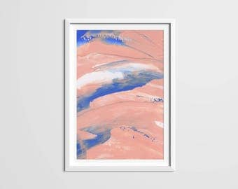 Pink Paint Strokes Print