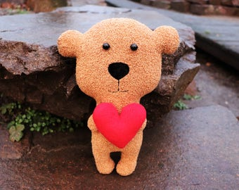 Rag doll bear Handmade animal lover gift Woodland room decor