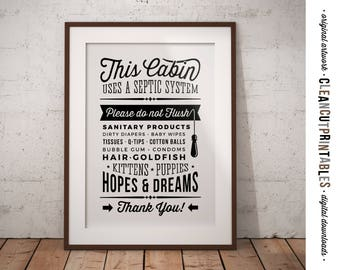 Septic system etsy for Cabin septic systems