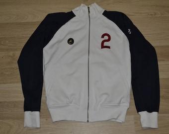 Vintage Sports Jacket Adidas Windbreaker  Blouse Olympics For Men Zipper Pockets Large Size