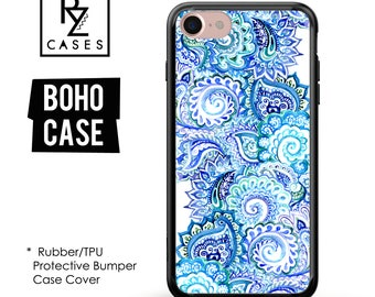 Boho Phone Case, Paisley Phone Case, Boho Case, Floral Case, iPhone 7, iPhone 6, Mandala, iPhone 7 Plus Case, Rubber, Bumper Case