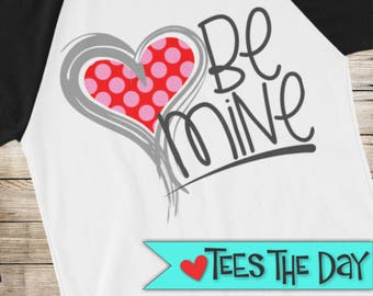 Valentines shirt, Be Mine love you raglan shirt, Valentines Day heartbreaker 3/4 sleeve raglan, V-day raglan, Heartbreaker shirt, TeesTheDay