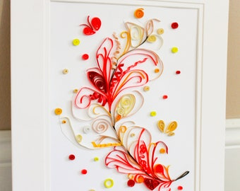 Paper Quilled Feather