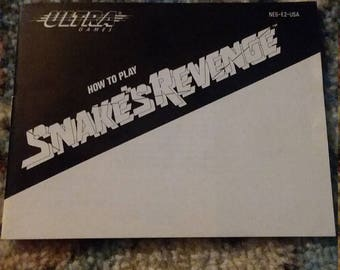 Snakes Revenge NES instruction manual