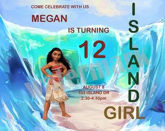 Island Girl Birthday Invitation