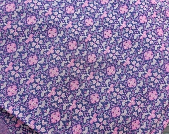 Vintage polyester flower material for sewing and projects