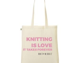 Knitting is Love -  Knitting Bag