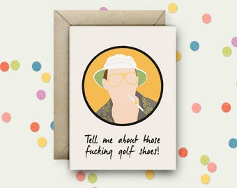 Fear & Loathing Pop Art and Quote A6 Blank Greeting Card with Envelope