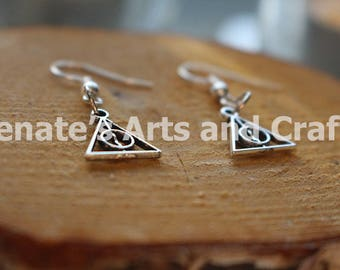 Tough handmade Deathly Hallows Harry Potter Earrings