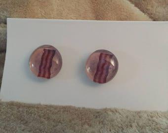 Bacon Glass Gem Magnets