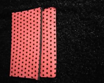 Polka Dot Fold Over clutch