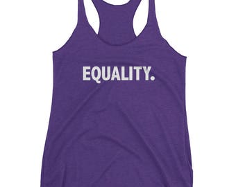 Equality T-Shirt | Peace, Love, Unity, Equal Rights. Women's Equality. Shirt, Pride And Equal Rights Razorback Tank Top
