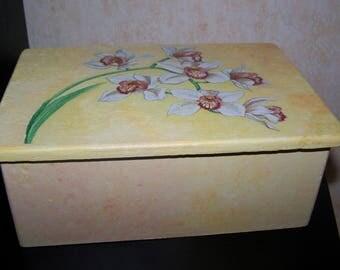 Sugar wood Beige wooden box