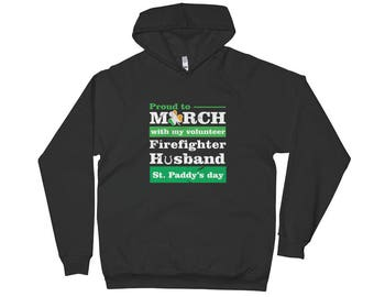 st patricks parade/ firefighter wife hoodie/ fire wife gift/ firefighters/ st patricks day/ firefighter gift/ firefighter family/ firefighte