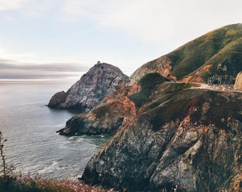 Highway 1, California Travel Photograph, Landscape Print