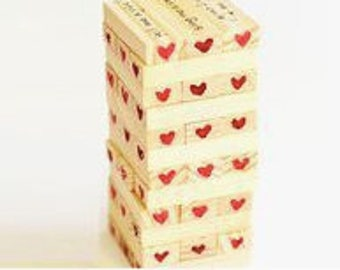 Customized Jenga, Anniversary gifts, gifts, games, personalized games, custom