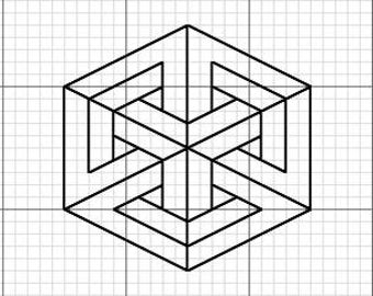 Impossible Geometry - Hexagon On Point