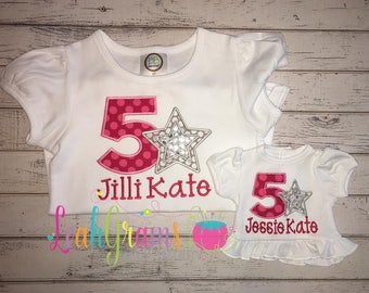 American Girl Birthday Applique Shirt