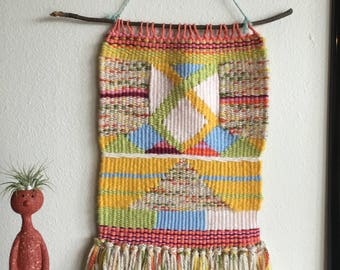 Mystical Mountain Weaving | Woven Wall Hanging