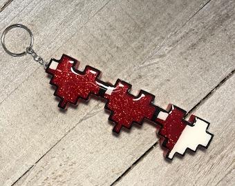 Zelda Hearts Keychain