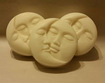 SUN & MOON FACE -Goat's Milk Soap, Scented, Pick your Scent, Handmade, Set Of 3Goat's Milk Soap, Scented Goat's Milk Soap, Moisturizing Soap