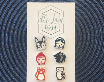 Story Book Studs - 3 pack