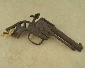 Antique Rusty Toy Gun Decoration