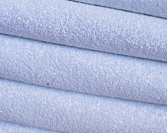 Matte White Premium Quality Chunky Glitter Fabric Sheet
