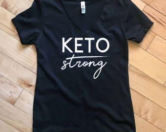 Women's Keto Strong V-neck Tee