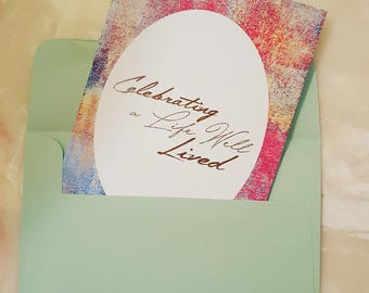 Celebrating Life Sympathy Card