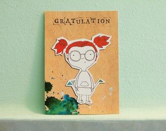 "Postcard ""Lola"", congratulations"