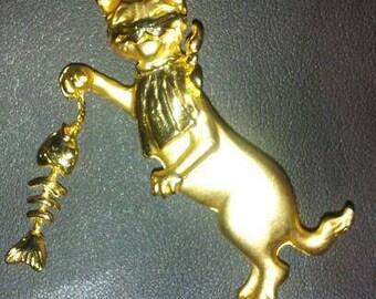 Vintage Cat brooch by A.J