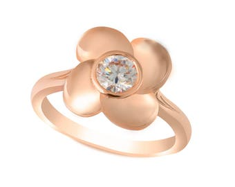 The Tokyo Ring - Lab Grown Moissanite 14K Rose Gold