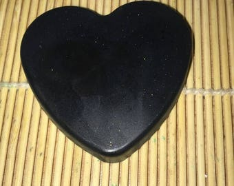Black heart soap