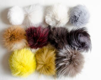 Fur PomPoms recommended for our beanies