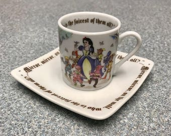 Snow White Miniature Tea Cup and Saucer designed by Paul Cardew
