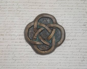Celtic knot wall art, clay carving, unique gift, Scottish, Irish, Celtic Home Decor, Unique, Renaissance era art, medieval wall home decor