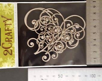 Scrapbooking 2Crafty Chipboard Set of 3 Celebration Swirls
