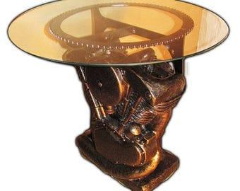 Attractive SHOVELHEAD END TABLE, Stone End Table, Shovelhead, End Table, Motorcycle  Engine Replica
