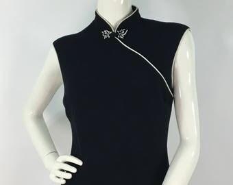 Vintage Evan-Picone, Evan Picone midi dress, oriental midi dress