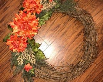 Wreath - Grapevine Floral